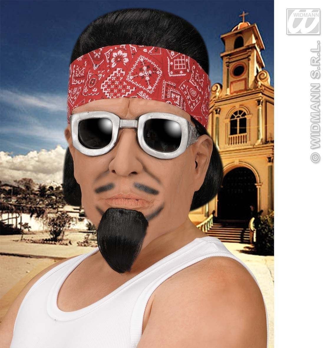 Latino Masks Wig Goatee Bandana/Sunglasses Fancy Dress