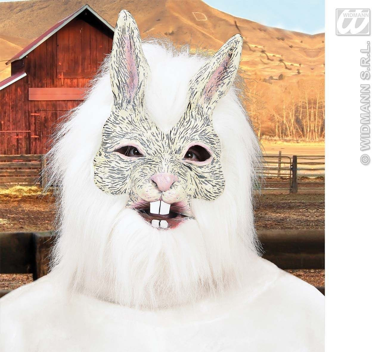 Rabbit Masks With Plush Fur - Fancy Dress (Animals)