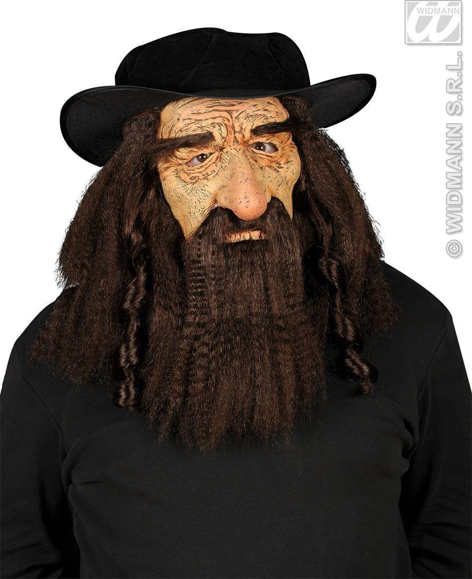 Rabbi Masks With Hat,Hair & Moustache - Fancy Dress