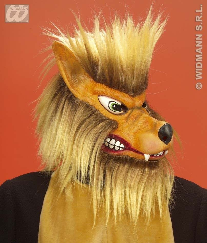 Wolf Mask Plush - Fancy Dress (Animals)