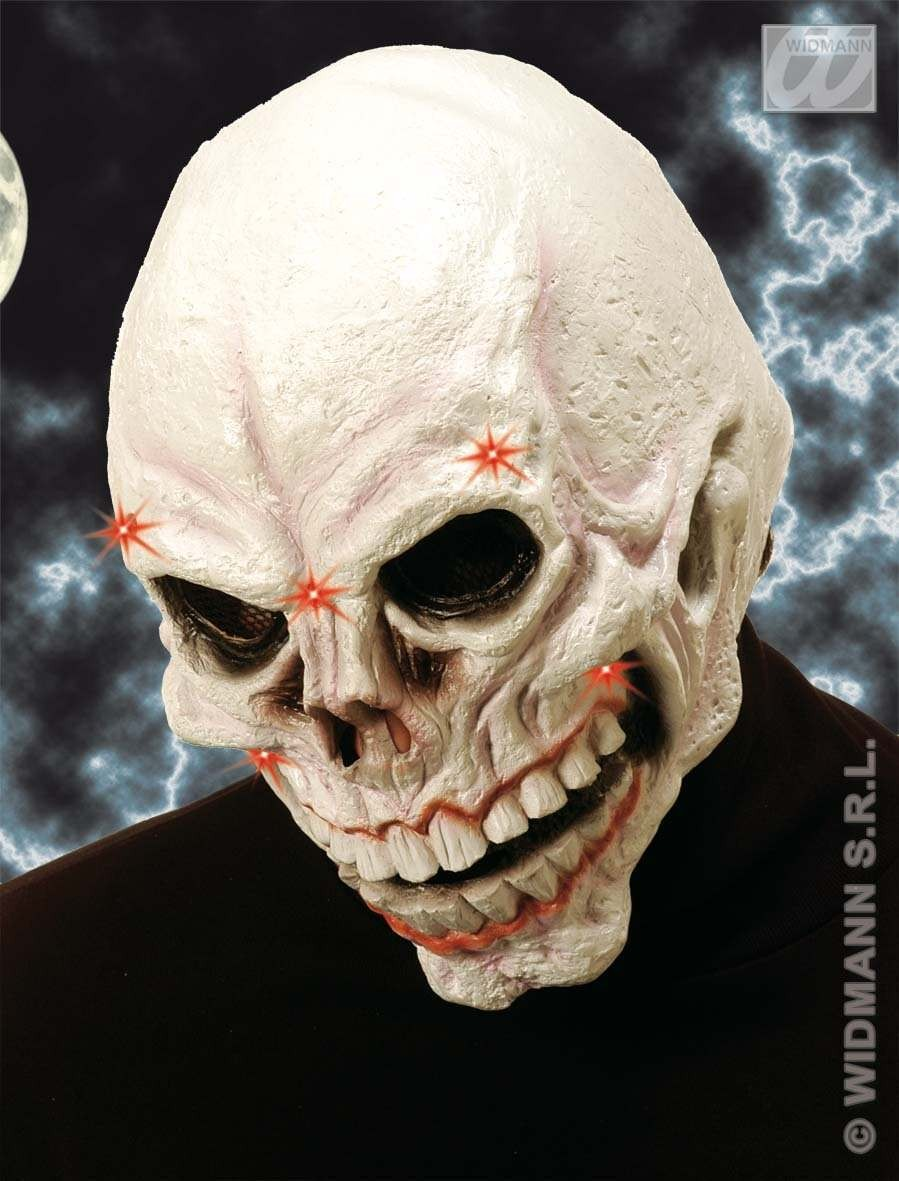 Skull Mask Light Up - Fancy Dress