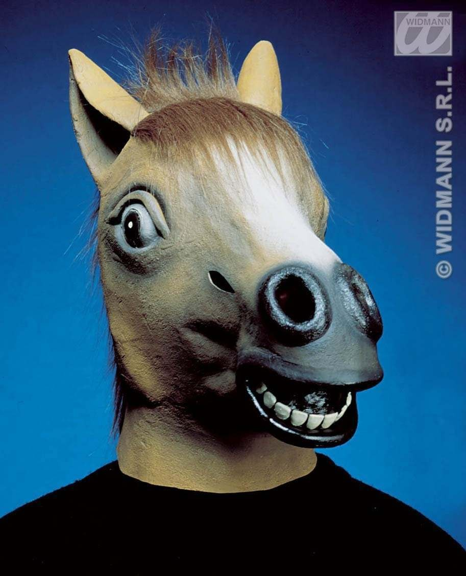 Horse Mask With Plush Hair - Fancy Dress (Animals)