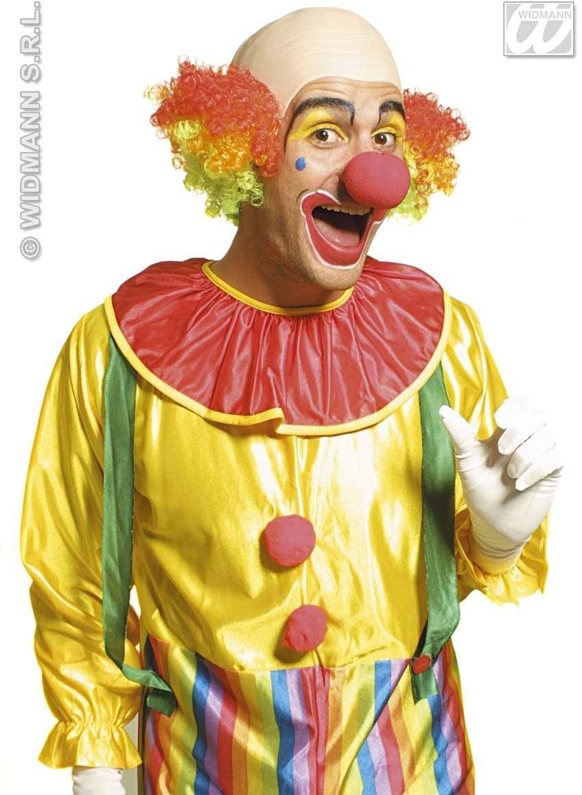 Clown Baldhead Multicolour Deluxe - Fancy Dress (Clowns)