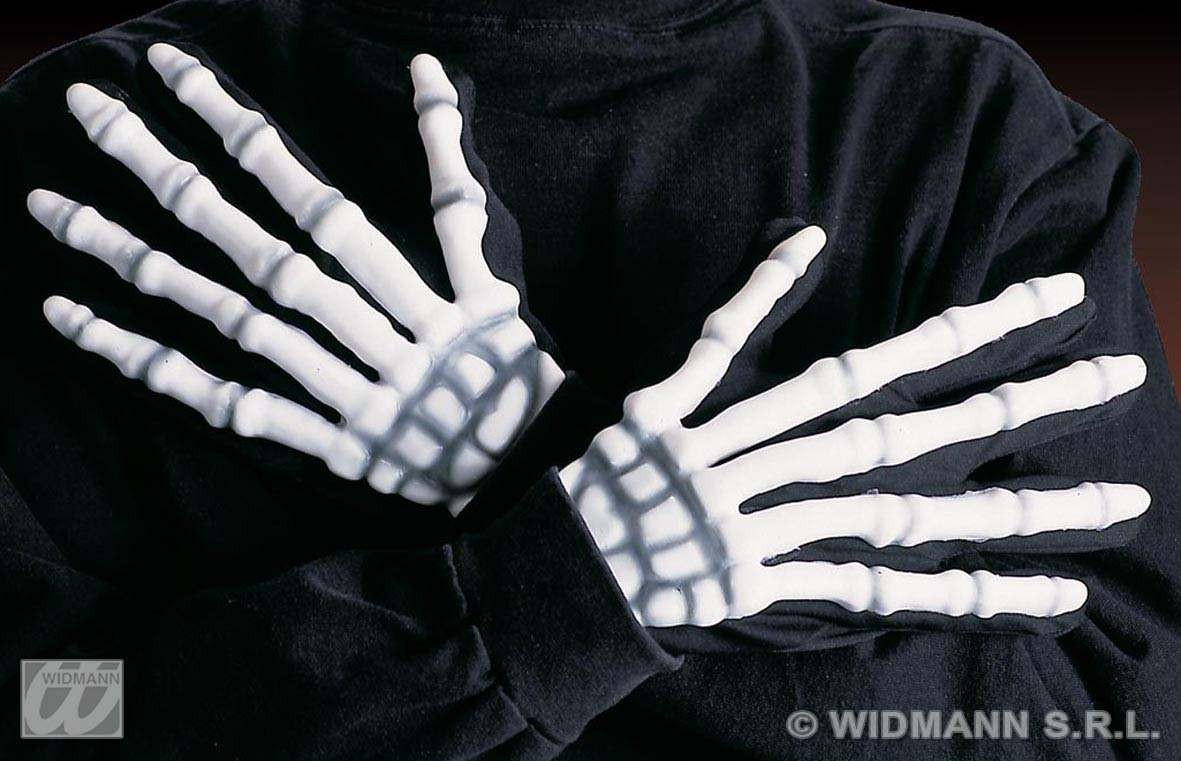 Skeleton Gloves 3D - Fancy Dress (Halloween)