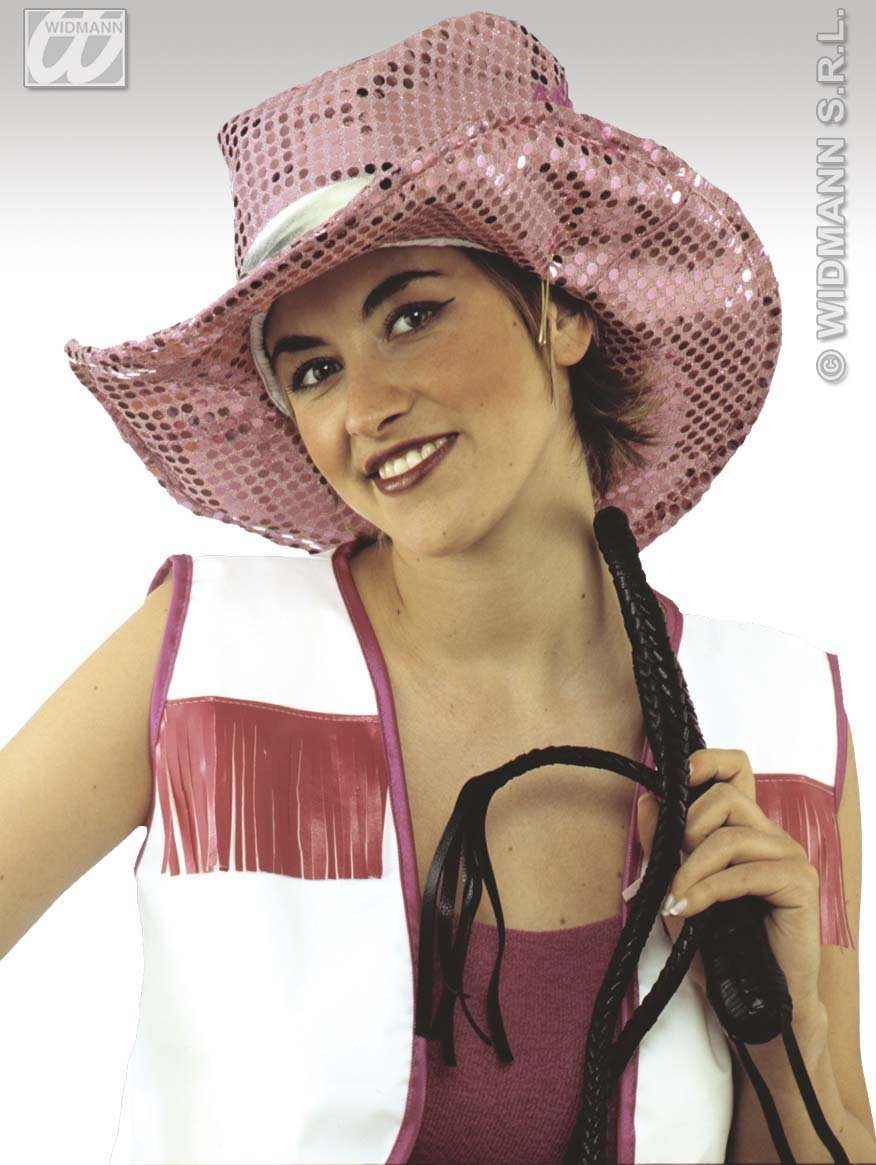 Sequin Cowgirl Hats - Fancy Dress (Cowboys/Native Americans)