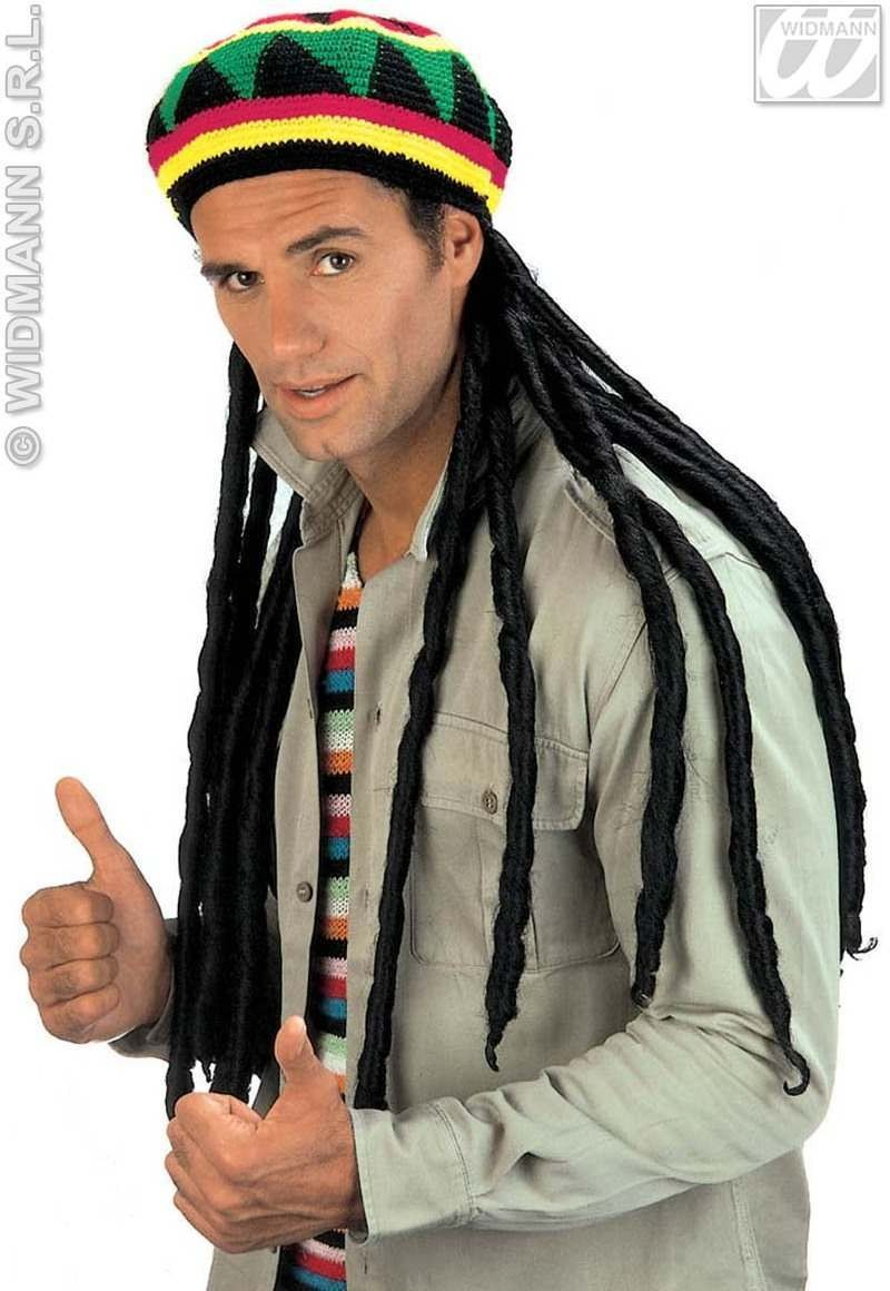 Rasta Tam W/Extra Long Dreadlocks - Fancy Dress