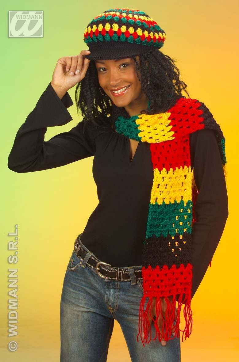 Scarf Reggae/Rasta 100Pc Wool - Fancy Dress