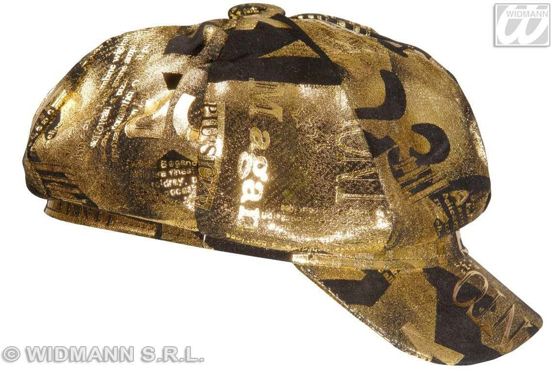 Lame Newsboy Cap Gold Or Silver - Fancy Dress
