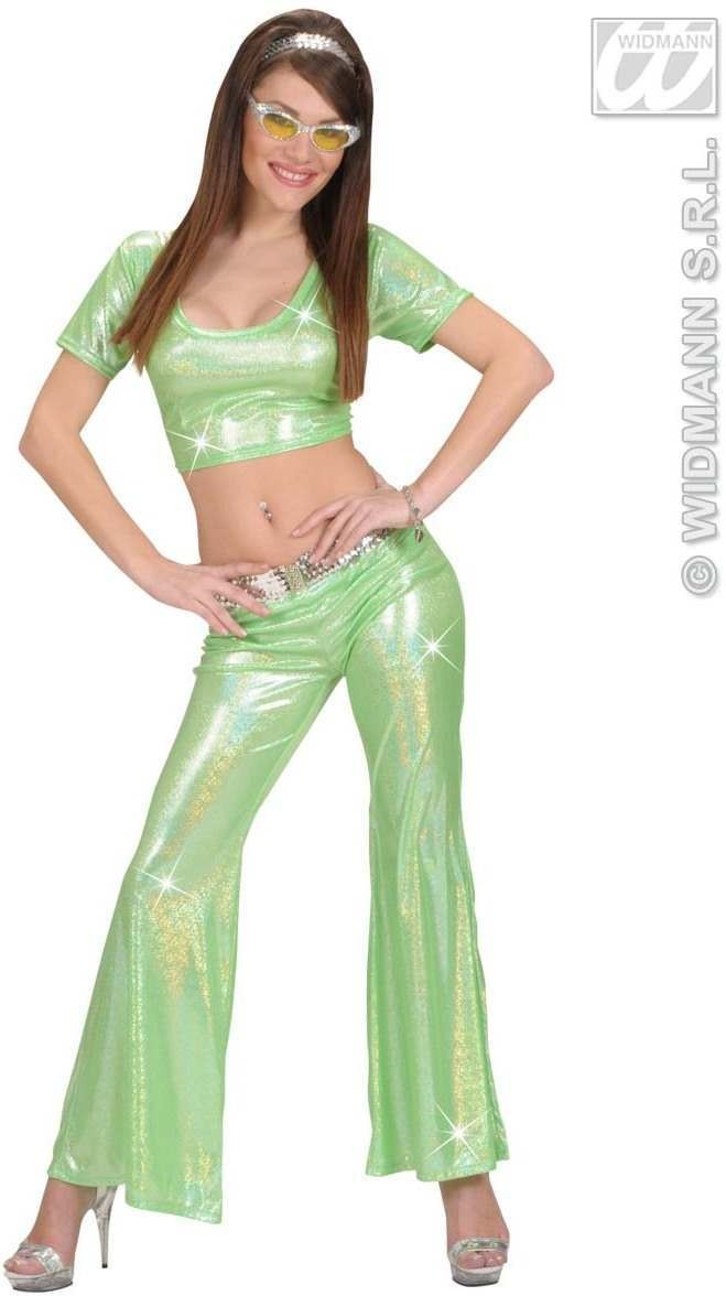 Holographic Sequin Top - Green - Fancy Dress