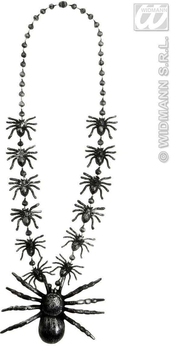Spiders Necklaces 40Cm - Fancy Dress (Halloween)