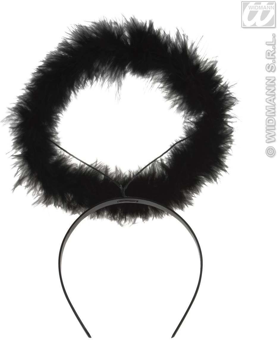 Halo Marabou Black Or Red - Fancy Dress
