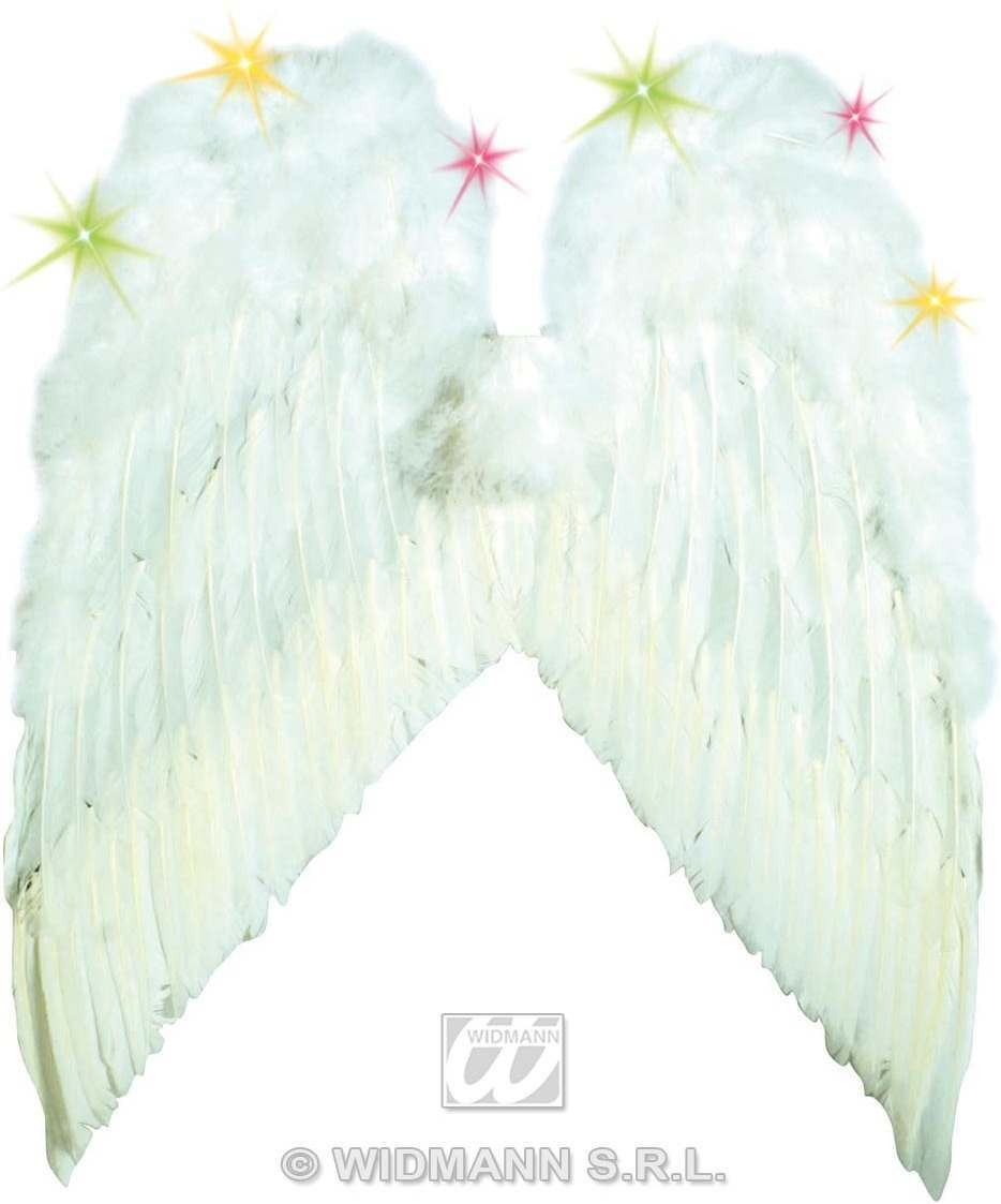 Light Up Angel Wings White 55X48Cm - Fancy Dress (Christmas)