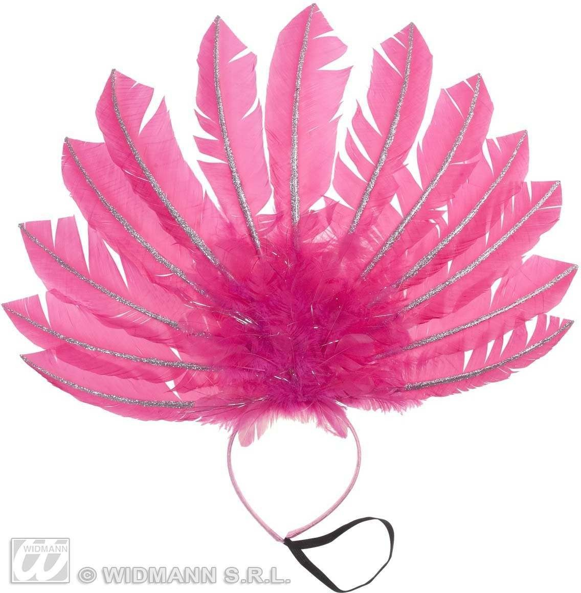 Pink Feathered Headbands Fancy Dress