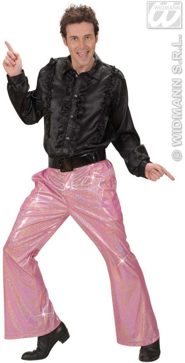 Holographic Sequin Pants - Pink - Fancy Dress