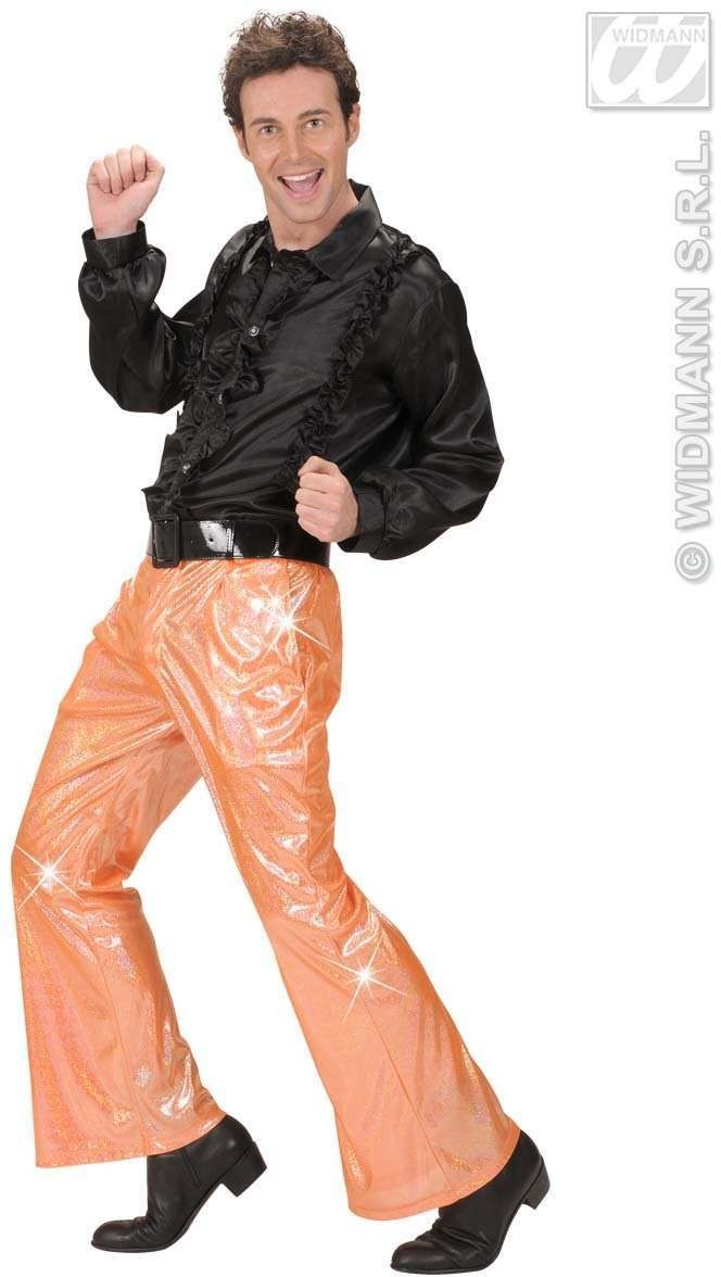 Holographic Sequin Pants - Orange - Fancy Dress