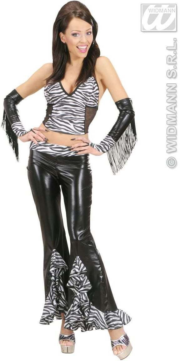 Zebra Top Fancy Dress Costume Ladies (Animals)