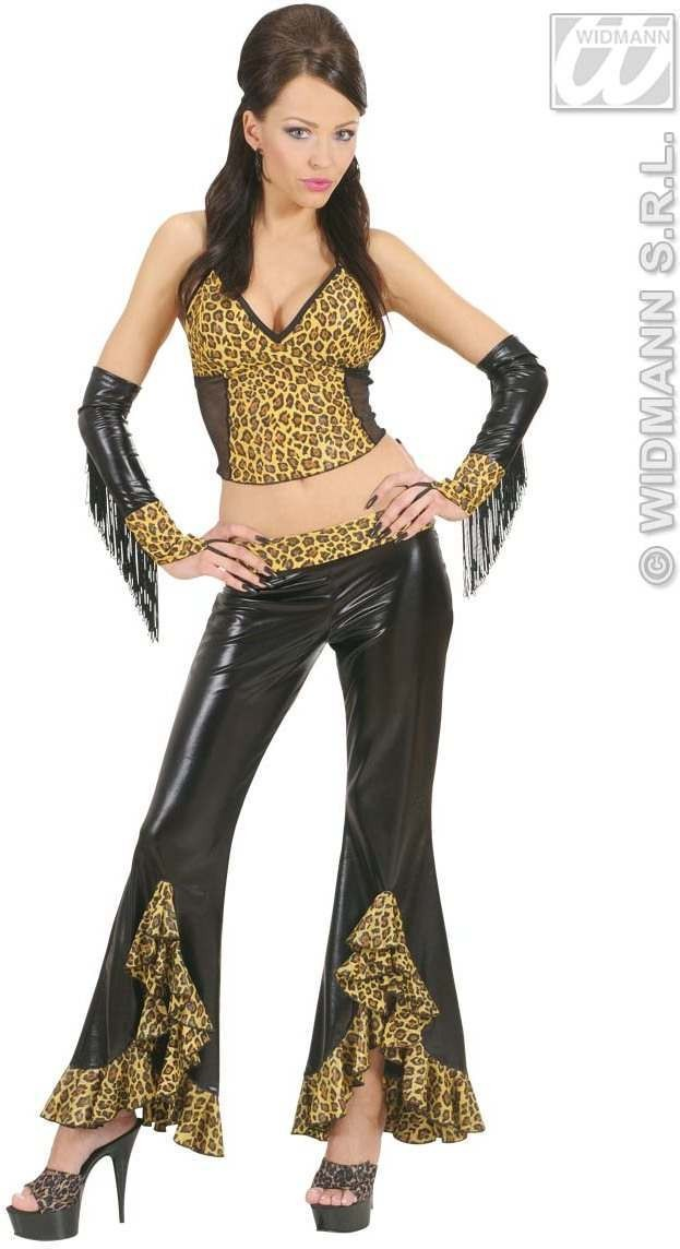 Leopard Top Fancy Dress Costume Ladies
