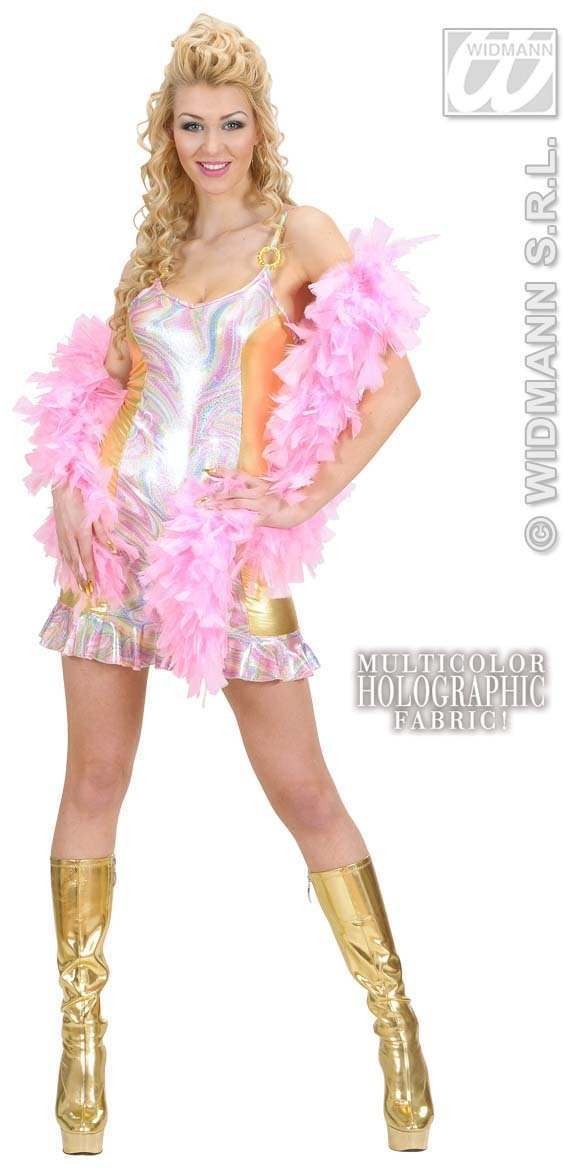 Multicolored Holographic & Gold Dress Costume Ladies