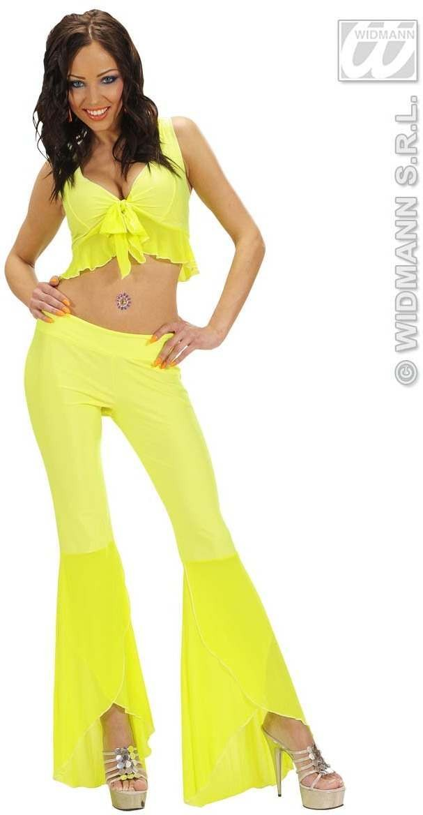Samba Top And Pants Neon Yellow Fancy Dress Costume (Spanish)