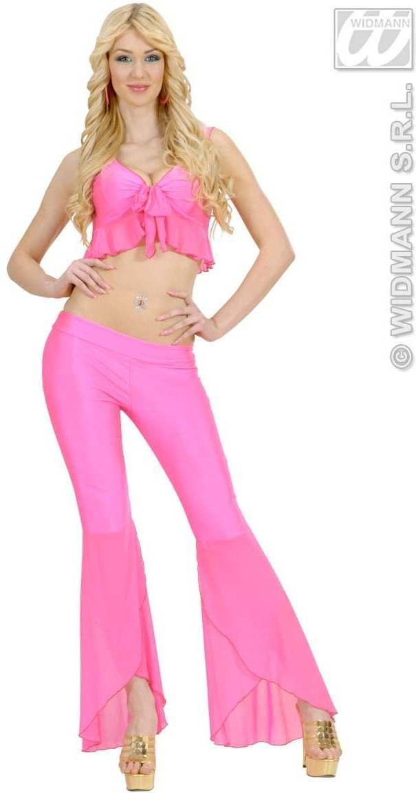 Samba Top And Pants Neon Pink Fancy Dress Costume (Spanish)