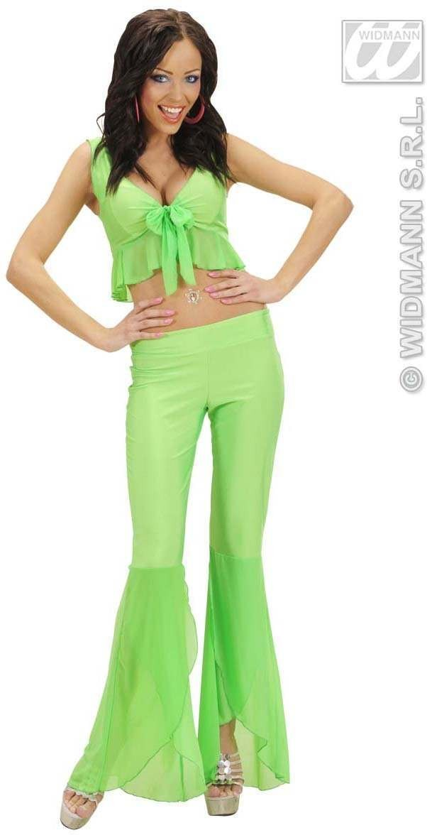 Samba Top And Pants Neon Green Fancy Dress Costume (Spanish)