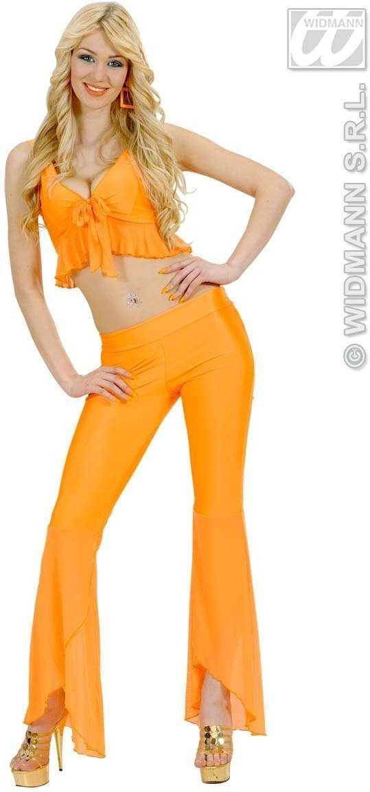 Samba Top And Pants Neon Orange Fancy Dress Costume (Spanish)