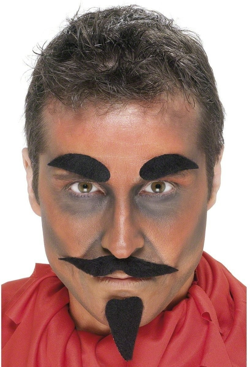 Devil Facial Hair Set - Fancy Dress Mens (Halloween)