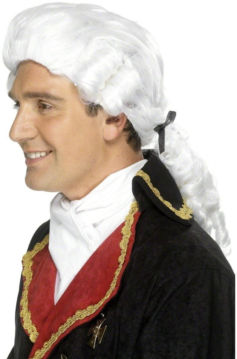 Court Gentleman'S Wig - Fancy Dress Mens