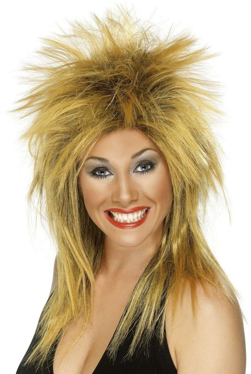 Rock Diva Wig - Fancy Dress Ladies (1980S)(Ginger)