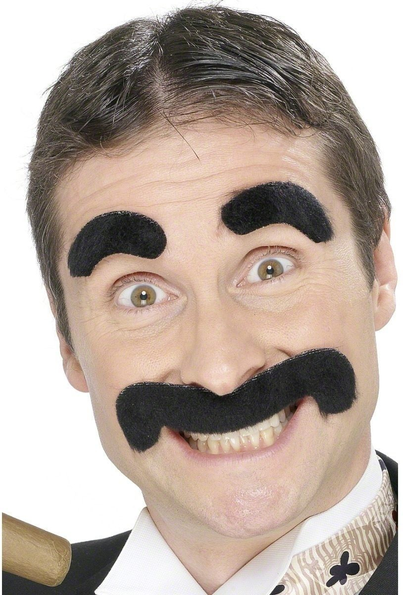 Groucho Eyebrows And Tash Set - Fancy Dress Mens