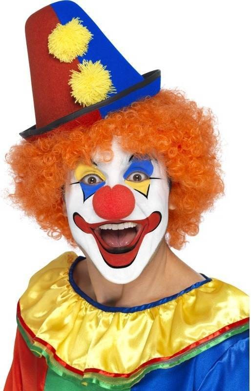Clown Topper Hat (Clowns Fancy Dress Hats)