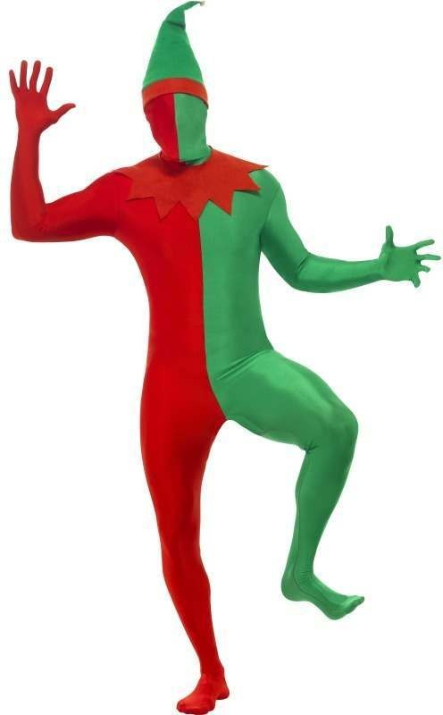 Elf Second Skin Fancy Dress Costume