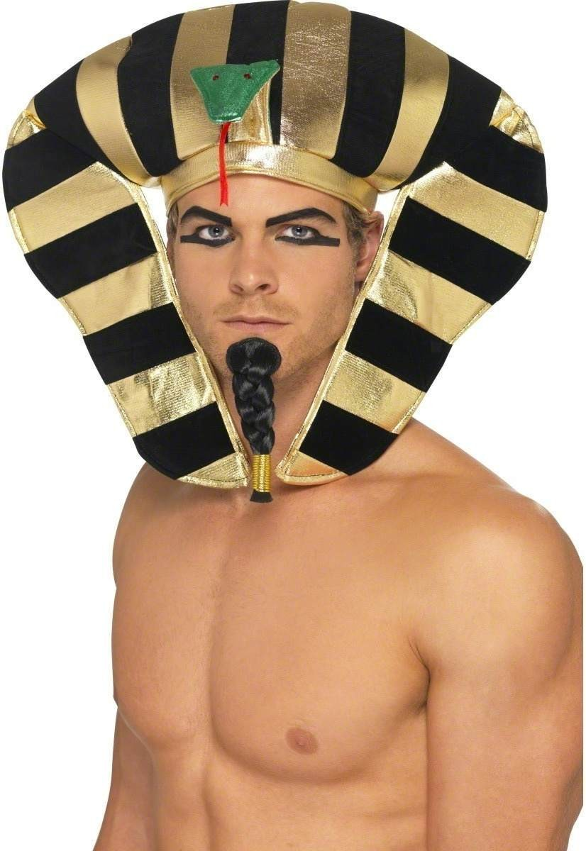 Egyptian Pharaoh Beard Fancy Dress Mens