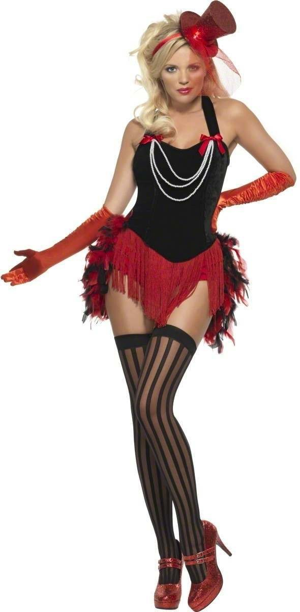 Fever Feather Burlesque Fancy Dress Costume Ladies (Burlesque)
