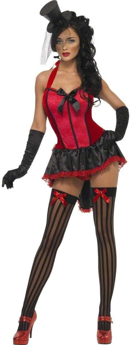 Fever Lace Burlesque Fancy Dress Costume Ladies (Burlesque)