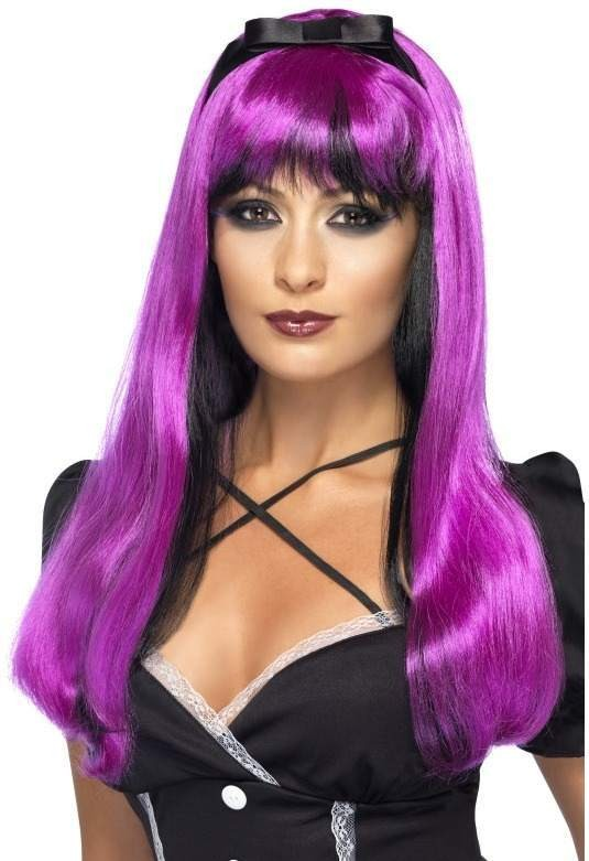Bewitching Wig, Pink Over Black (Halloween Wigs)