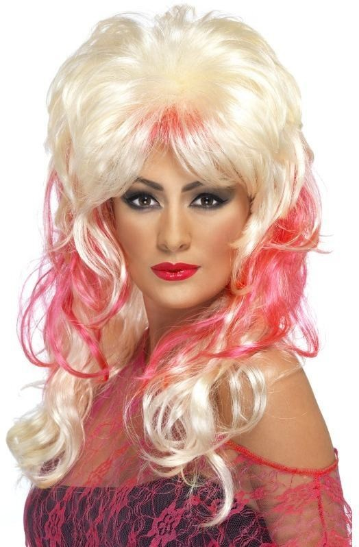 80'S Popstar Wig (Music Fancy Dress Wigs) - Blonde