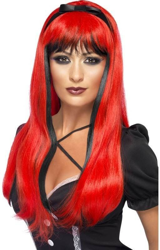 Bewitching Wig, Red Over Black (Halloween Wigs)