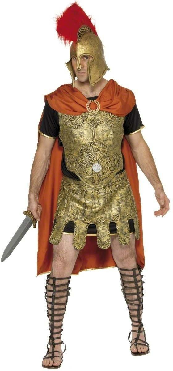 Gladiator Tunic Fancy Dress Costume Mens Size 38-40 S (Medieval)