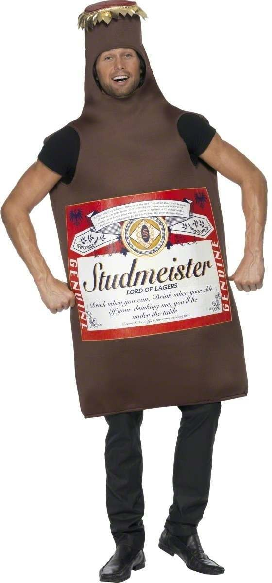 Studmeister Beer Bottle Fancy Dress Costume Mens (Cultures)
