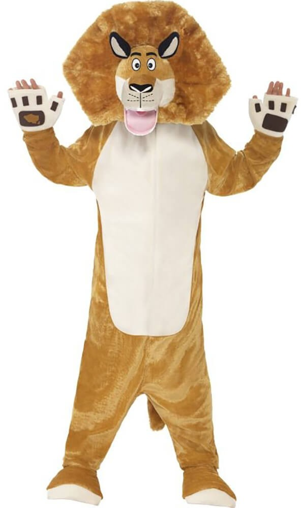 Childs Madagascar Alex The Lion All in One Fancy Dress Costume