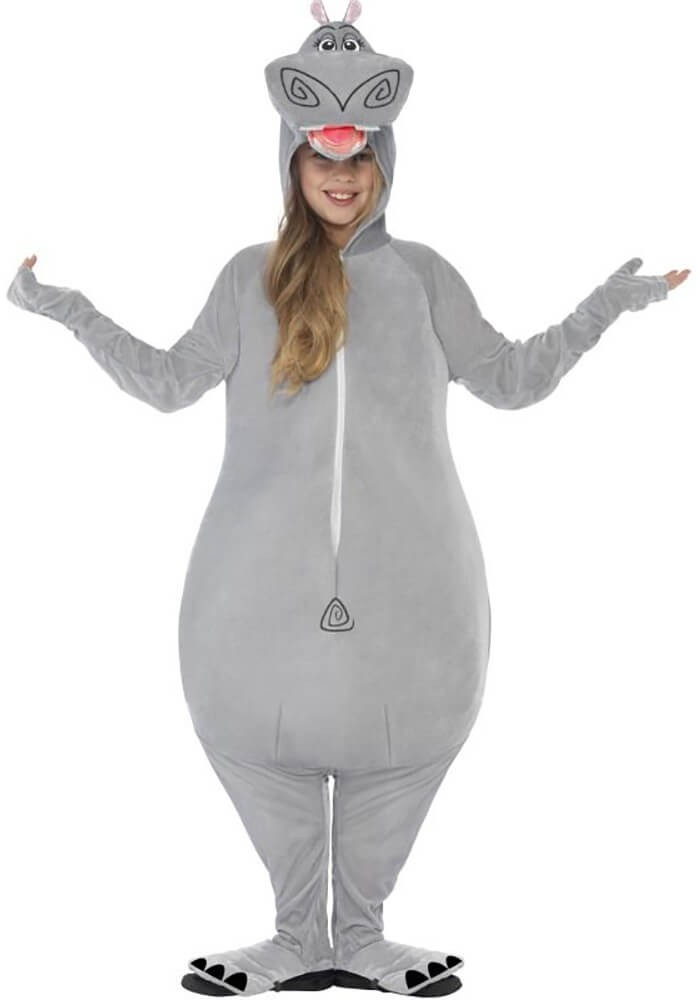 Childs Madagascar Gloria The Hippo Onesie Fancy Dress Costume