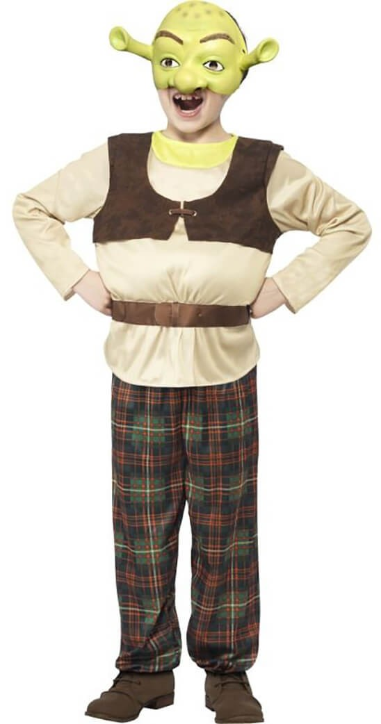 Boys Green Shrek Kids Fancy Dress Costume