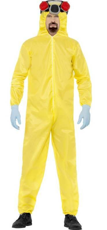 Men'S Official Breaking Bad Hazmat Fancy Dress Costume