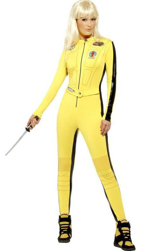 Ladies Yellow Kill Bill Fancy Dress Costume