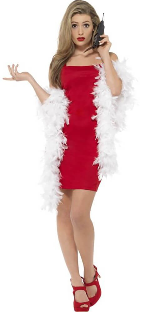 Ladies Red Clueless Cher Fancy Dress Costume