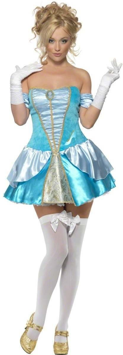 Fever Princess Cinders Fancy Dress Costume Ladies (Fairy Tales, Renaissance)