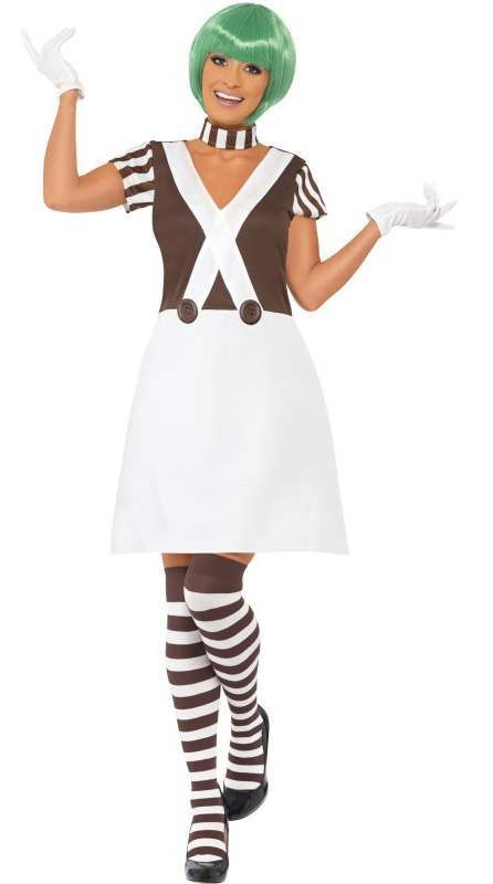Ladies Chocolate Candy Creator Factory Worker Fancy Dress Costume