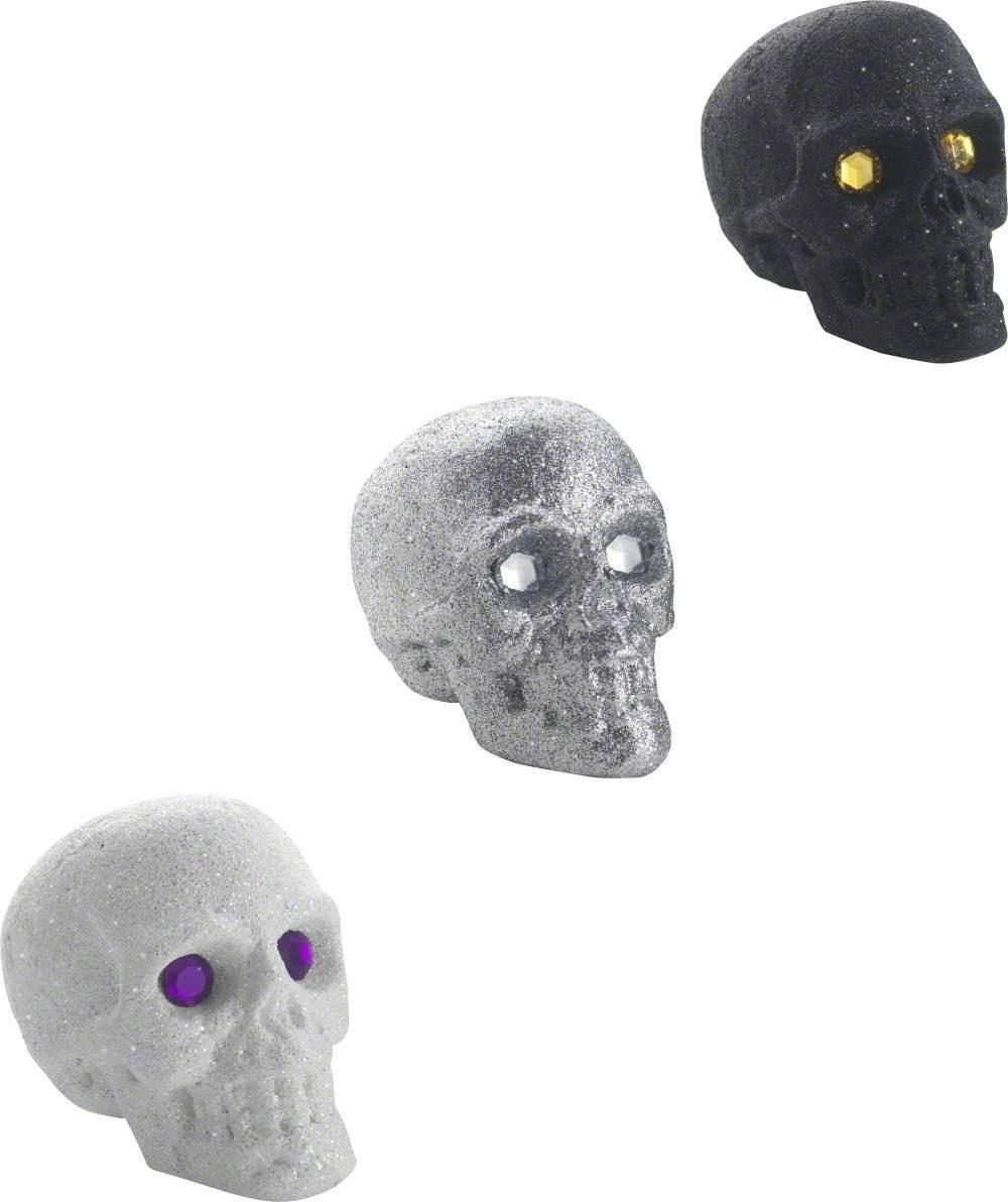 Small Glitter Skull With Jewel Eyes Fancy Dress