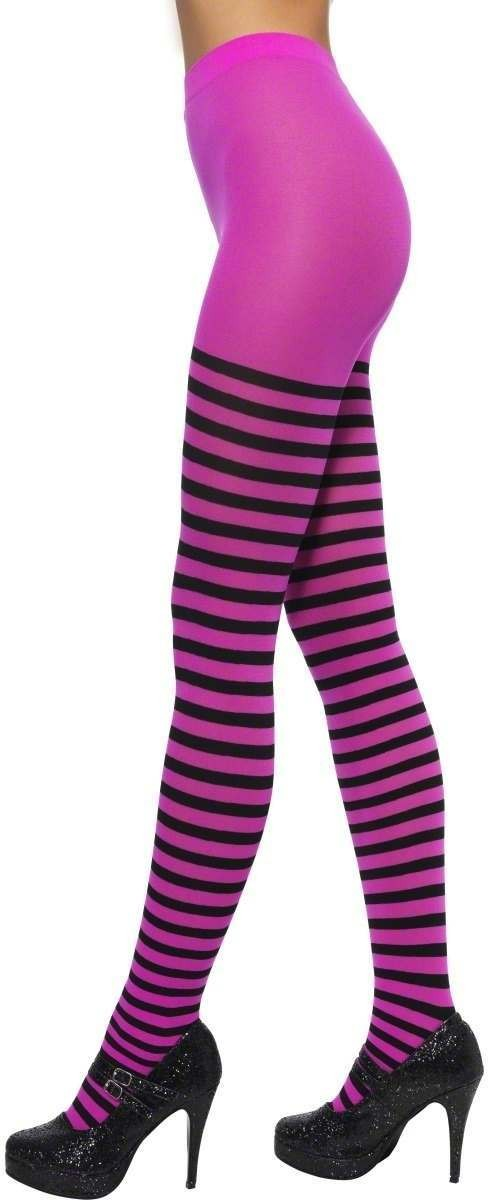 Striped Tights Fancy Dress Ladies Smf20821
